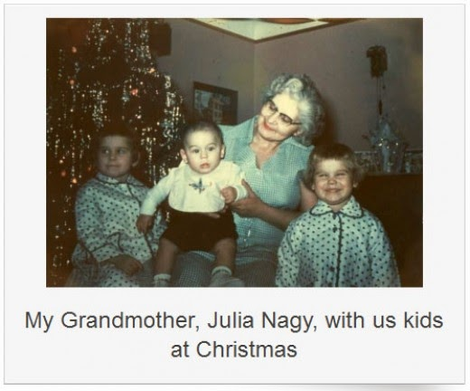 julia nagy and grandkids at christmas 1954