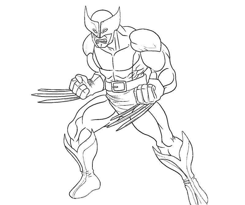 #8 Wolverine Coloring Page