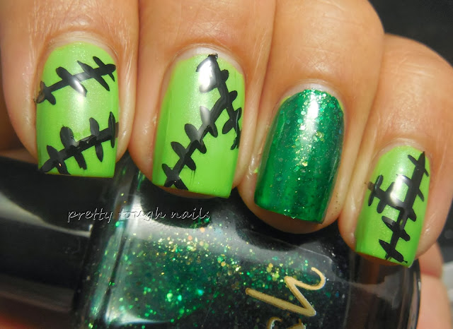 Frankenstein Nail Art with Pahlish Still Alive
