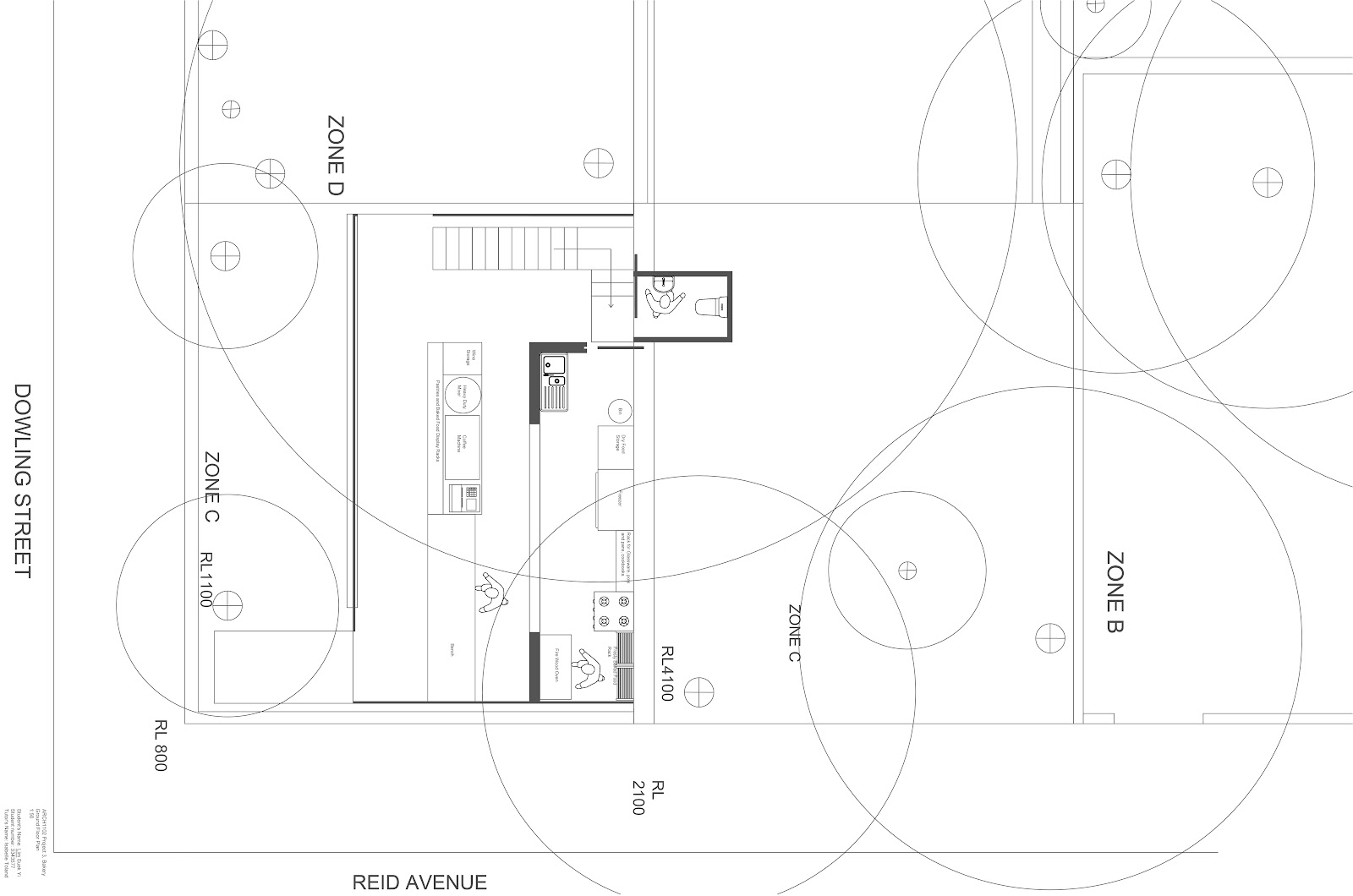 Bakery cafe in woolloomooloo sydney sueyi architecture for Bakery floor plan