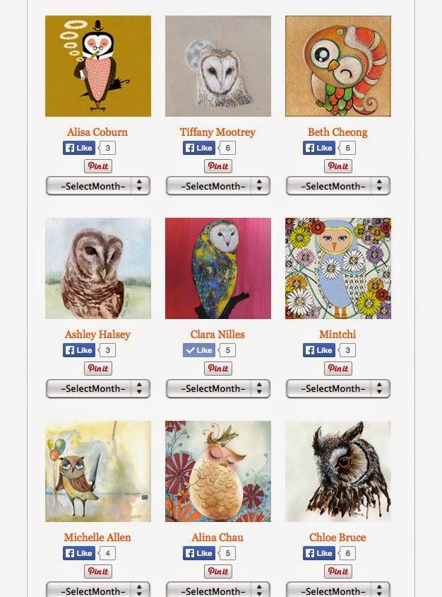 FREE Owl LOvers 2015 Calendar