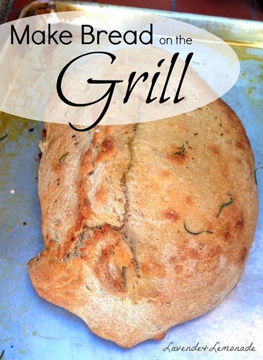 How to bake bread on a BBQ Grill!  Perfect for a summer cookout  | Lavende&Lemonade