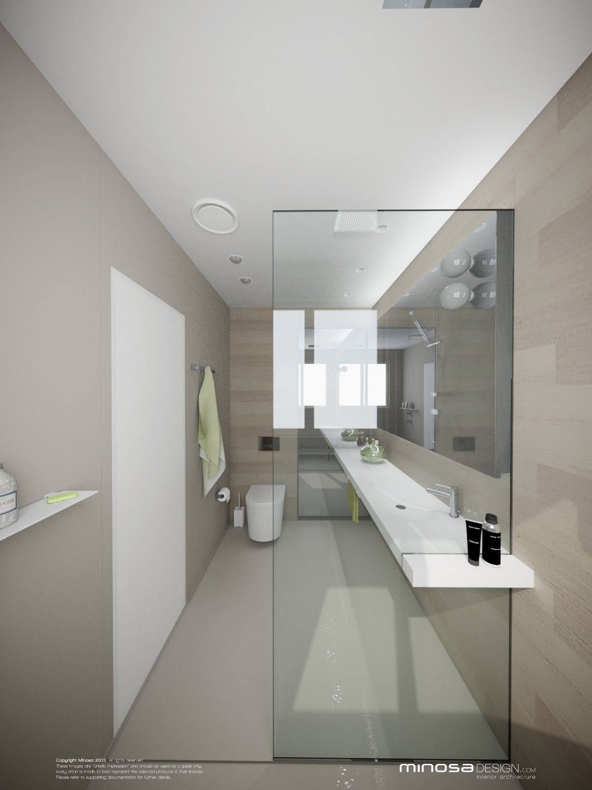 Minosa bringing sexy back the modern bathroom for Ensuite design ideas