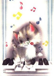 papeis de carta gatinho piano