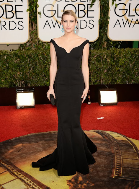 Emma Roberts in Lanvin at the Golden Globes