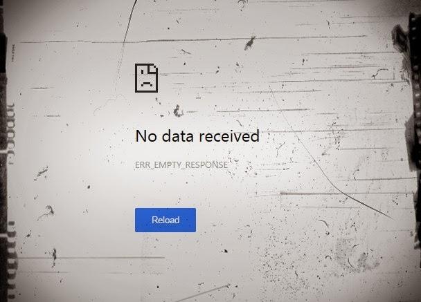 No data received - ERR_EMPTY_RESPONSE