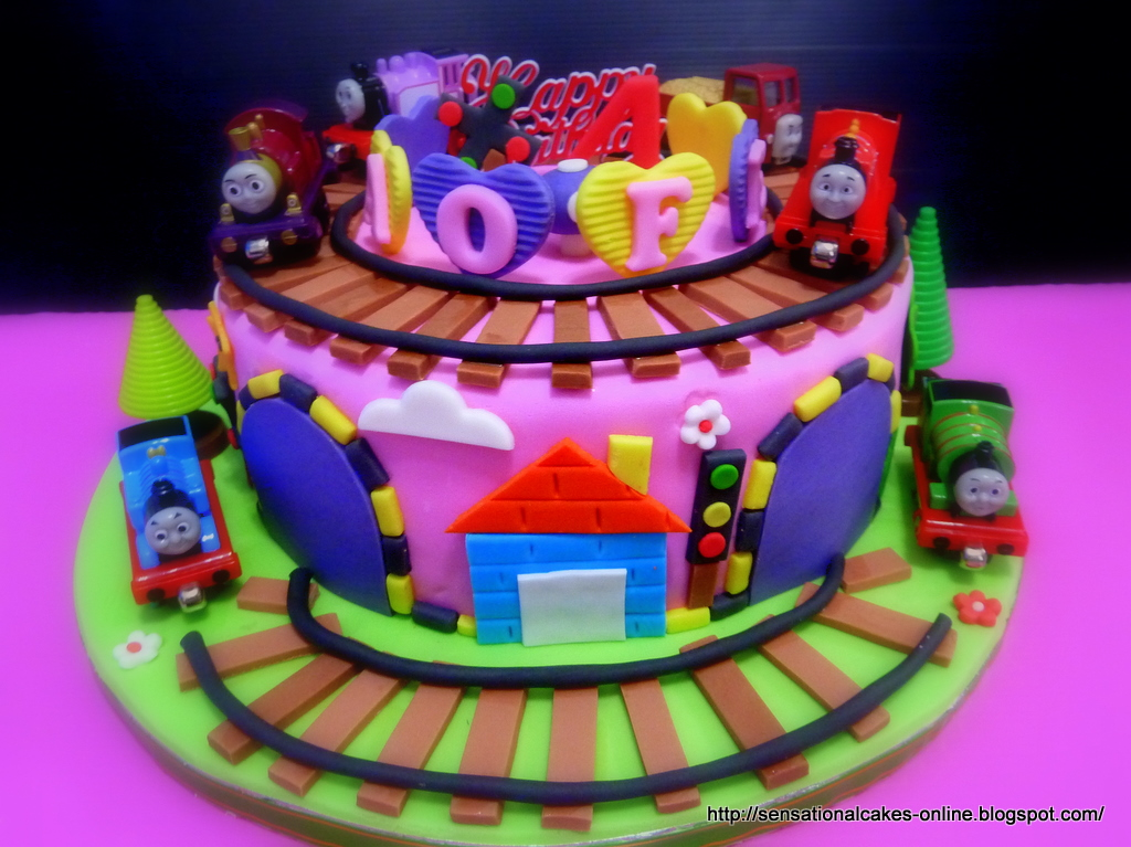 The Sensational Cakes Thomas The Train 3d Train Theme Cake Pink