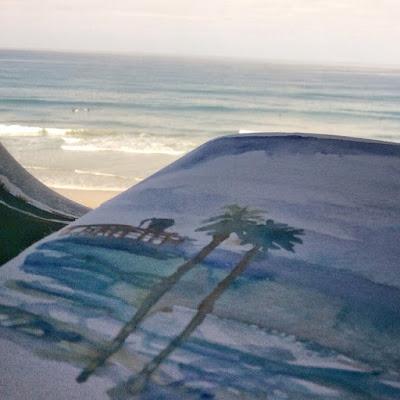 Shiho Nakaza San Diego West Coast Urban Sketchers Sketchcrawl San Diego watercolor train sketch Oceanside photo