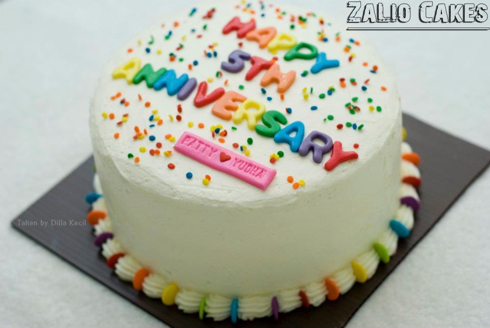 Zalio cakes rainbow cake for anniversary