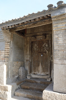Old doorway at Er Dao Guan village in Beijing