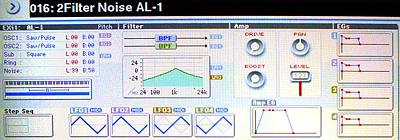 Korg KRONOS - Analog modeling synthesizer AL-1: Создание шумового пресета
