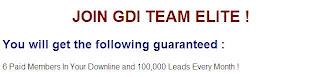 GDI team elite - Guarantees free referrals