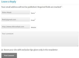 Wordpress Backlinks Comments