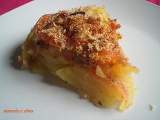 patate, pomodori e acciughe in forma