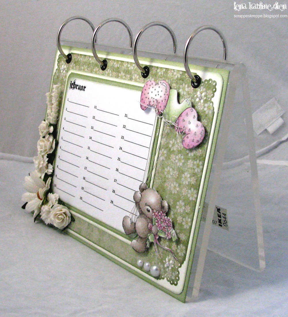Homemade Calendars With Photos : Lena katrine`s scrappeskreppe dt lotv spring