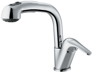 Vigo VG02004CH Single Handle Pull-Out Spray Kitchen Faucet Chrome