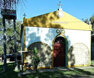 Capela Ermida, no Cerro da Ermida, em São Pedro do Sul (RS)