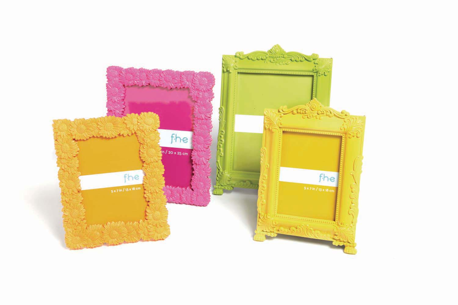 hot pink dasy frame diy mini abstract
