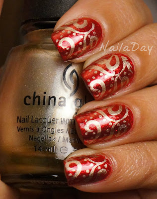 NailaDay: Diwali mani with Zoya Sarah and China Glaze Passion