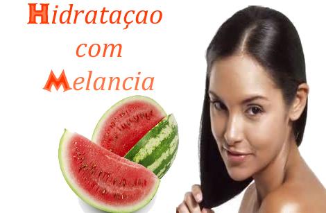 Hidratação com melancia para os cabelos