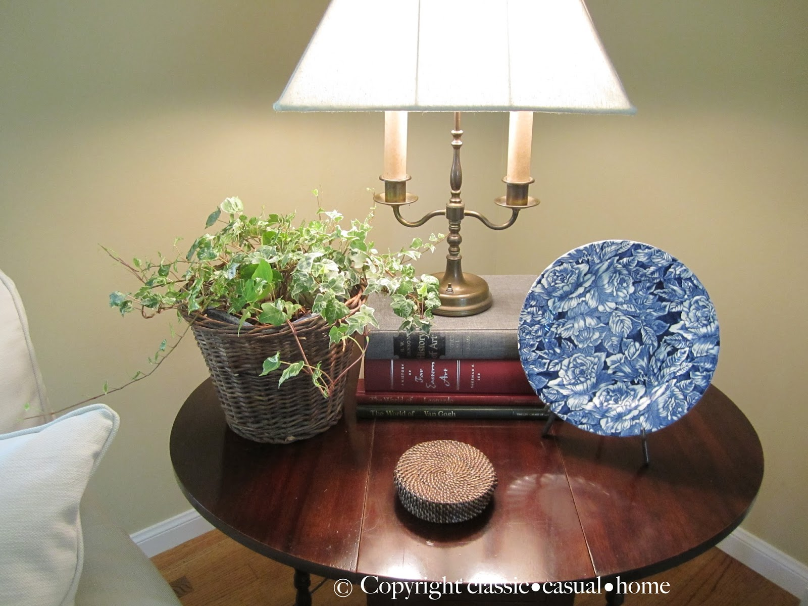 Classic Casual Home Blue And White Living