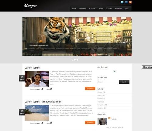 Mangos - Free Blogger Templates 2016