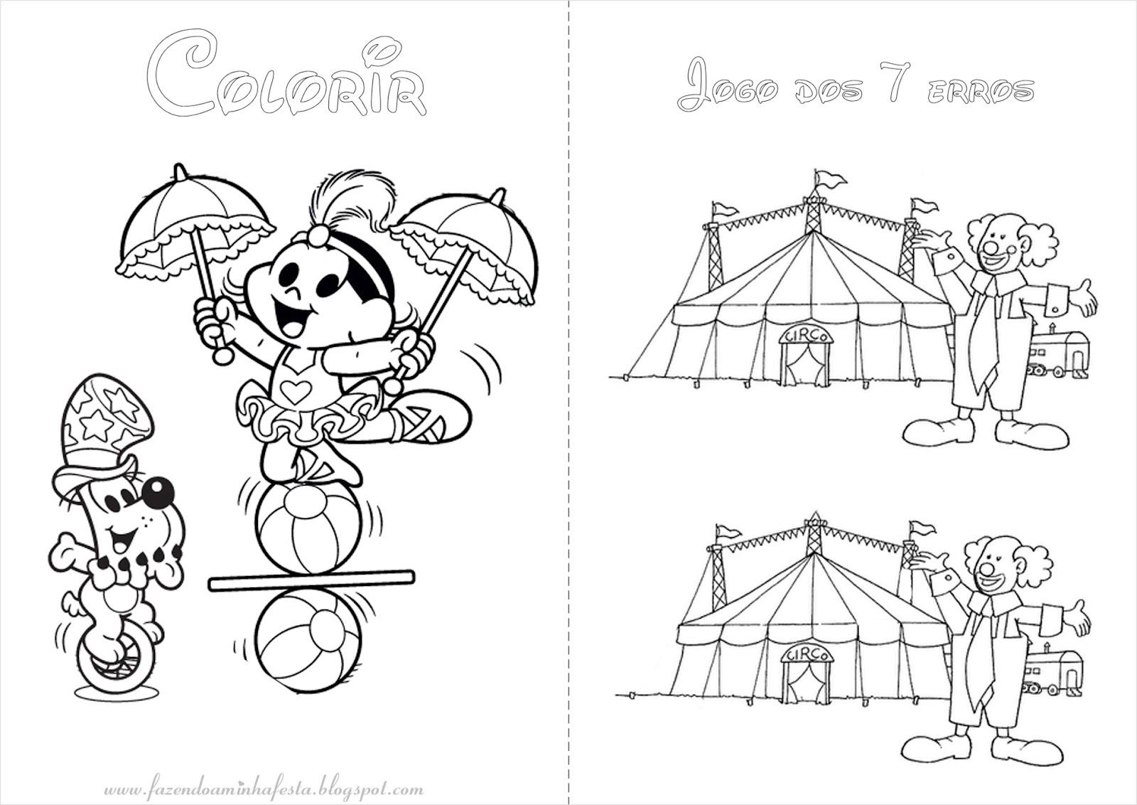 Fazendo a Minha Festa para Colorir: Circo - Livrinho de Atividades!