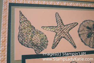 Close up of Stampin'UP!'s Iridescent Ice Embossing Powder