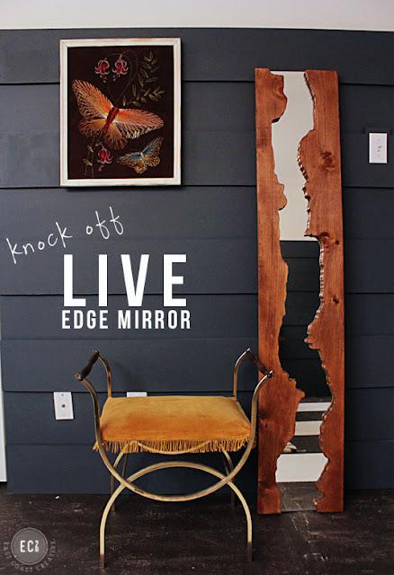 Kreativer Holzrahmen für Spiegel zum Selbermachen - schick in Diele, Flur und Schlafzimmer