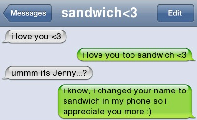 I Love You Too Sandwich
