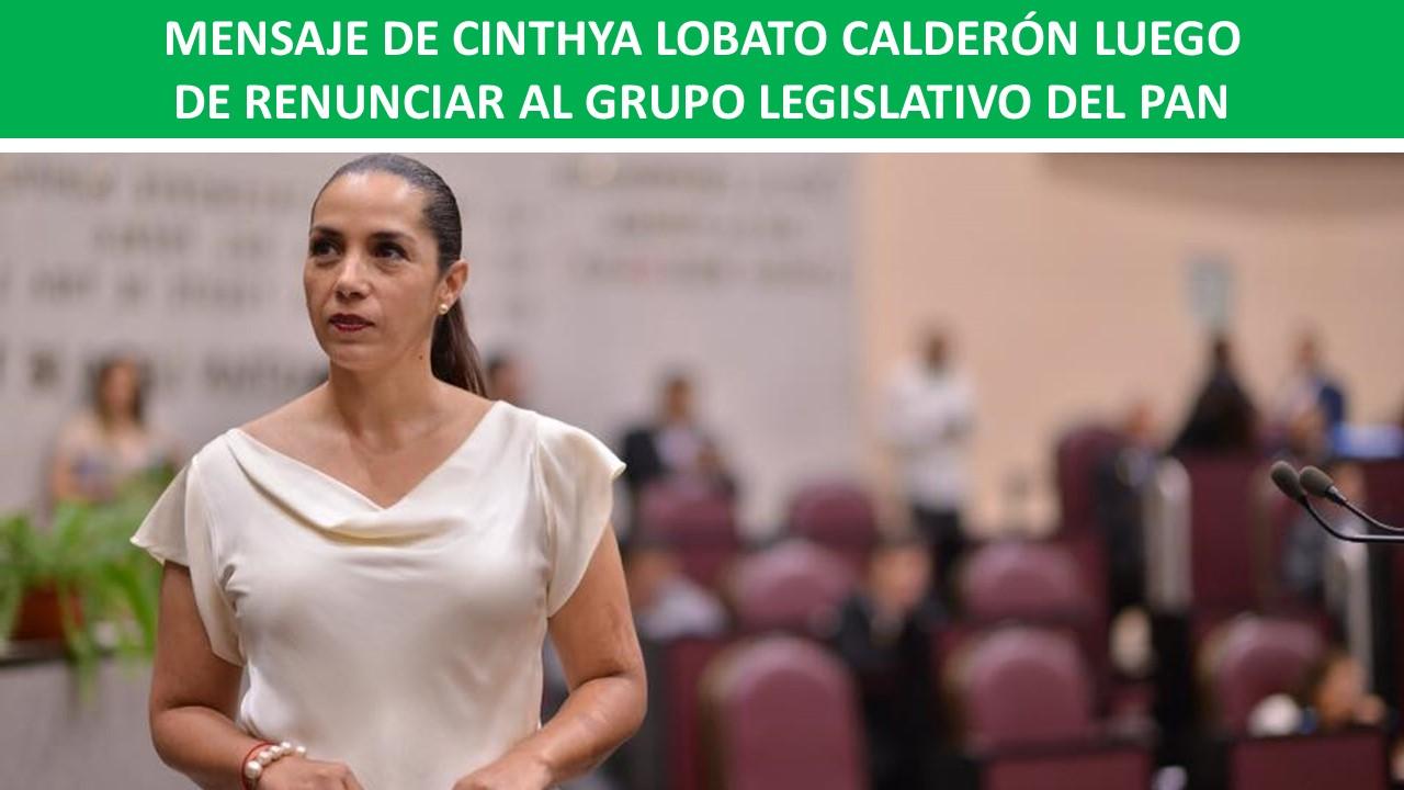 LUEGO DE RENUNCIAR AL GRUPO LEGISLATIVO DEL PAN