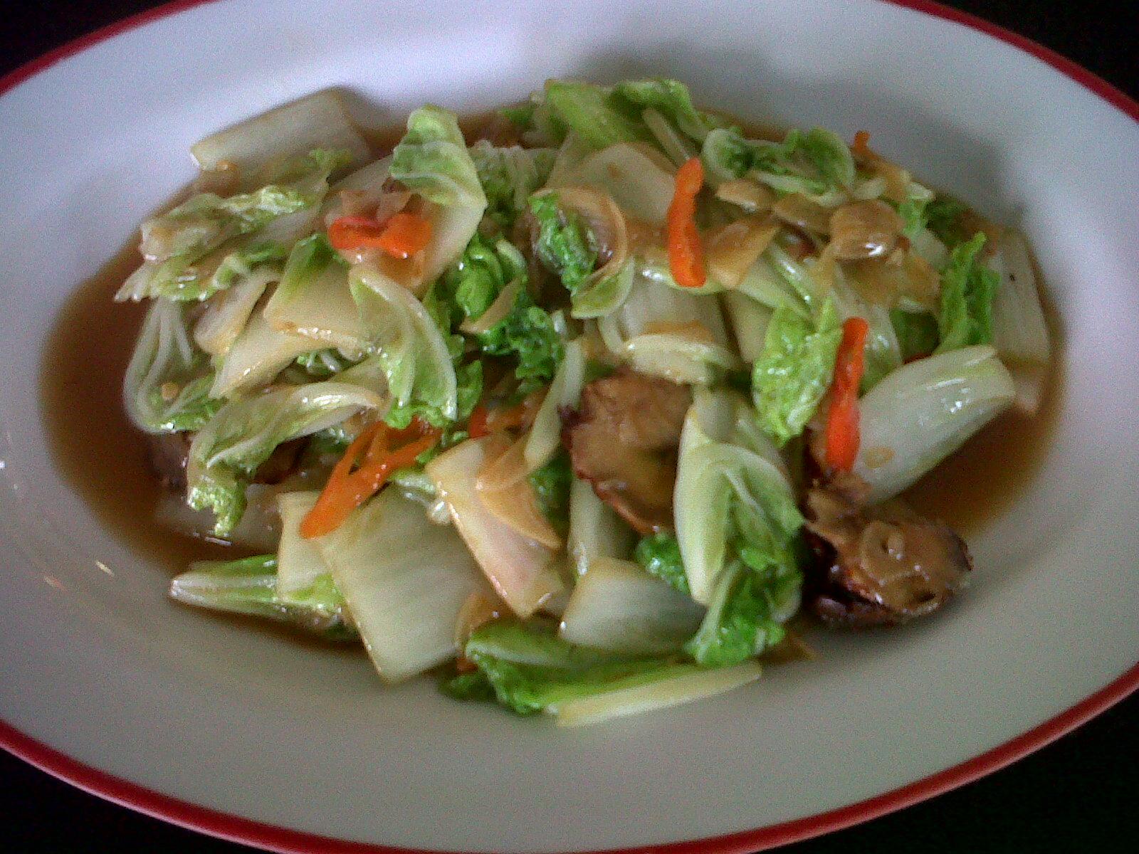 resep masakan cara membuat sayur sawi campur ayam