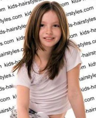 model rambut layer membingkai wajah untuk anak perempuan 201154