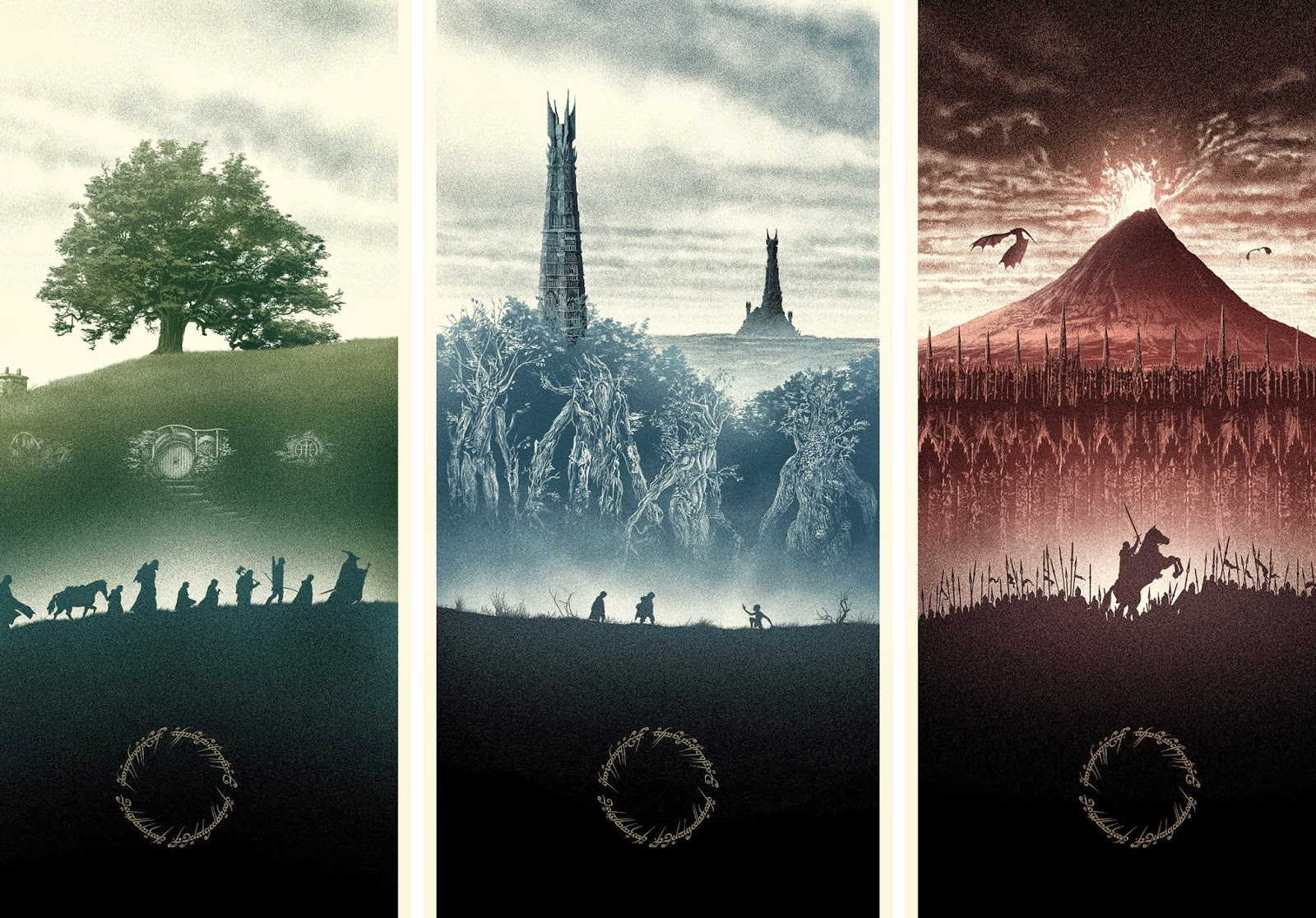 The Lord of the Rings Triptych by Marko Manev & Hero Complex Gallery