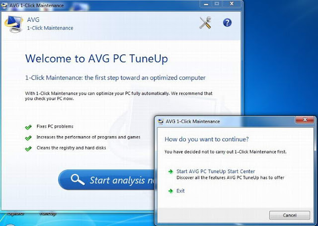 AVG PC Tuneup 2013 – 1 Click Optimize