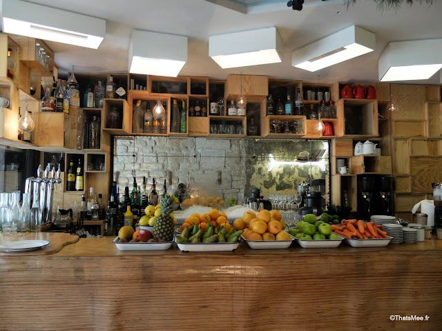 bar decoration scandinave restaurant bar La Faille montorgueil paris