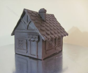 small chocolate house