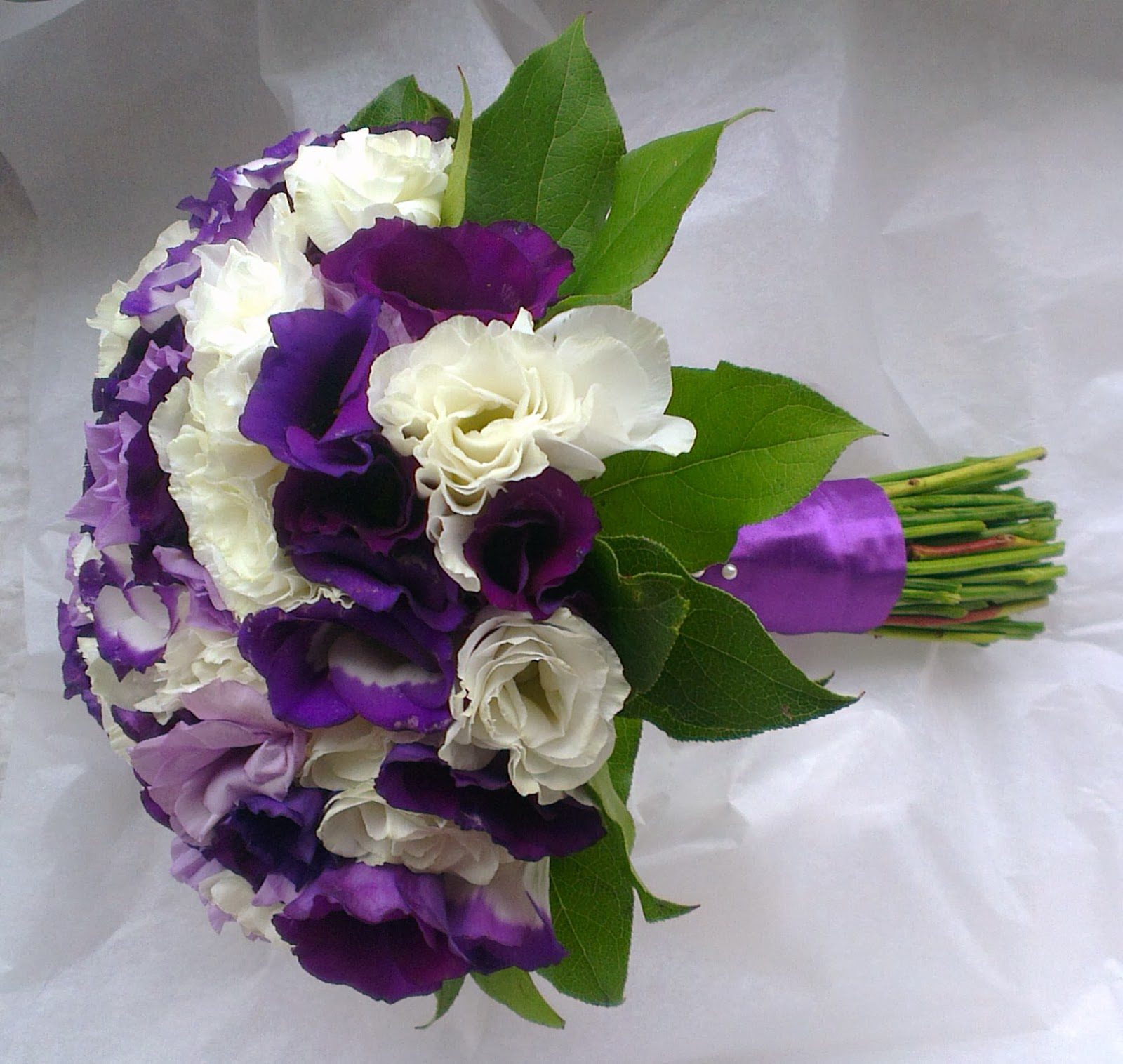Sandras Flower Studio Purple And White Wedding Flowers At The