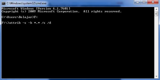 Cara Mengembalikan File/Data Flashdisk yang Hilang Karena Virus