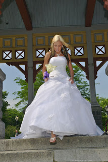 Bride walks down aisle - Belvedere Castle Wedding
