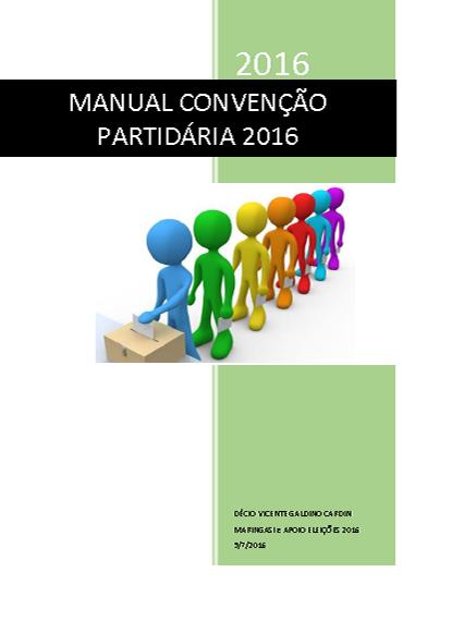 MANUAL DE CONVENCAO PARTIDARIA