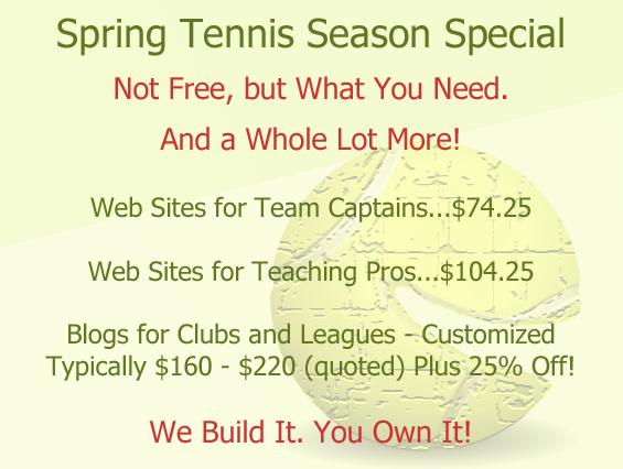Spring Tennis Season Special