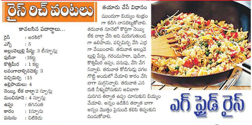 Telugu web world egg fried rice egg fried rice ccuart Gallery
