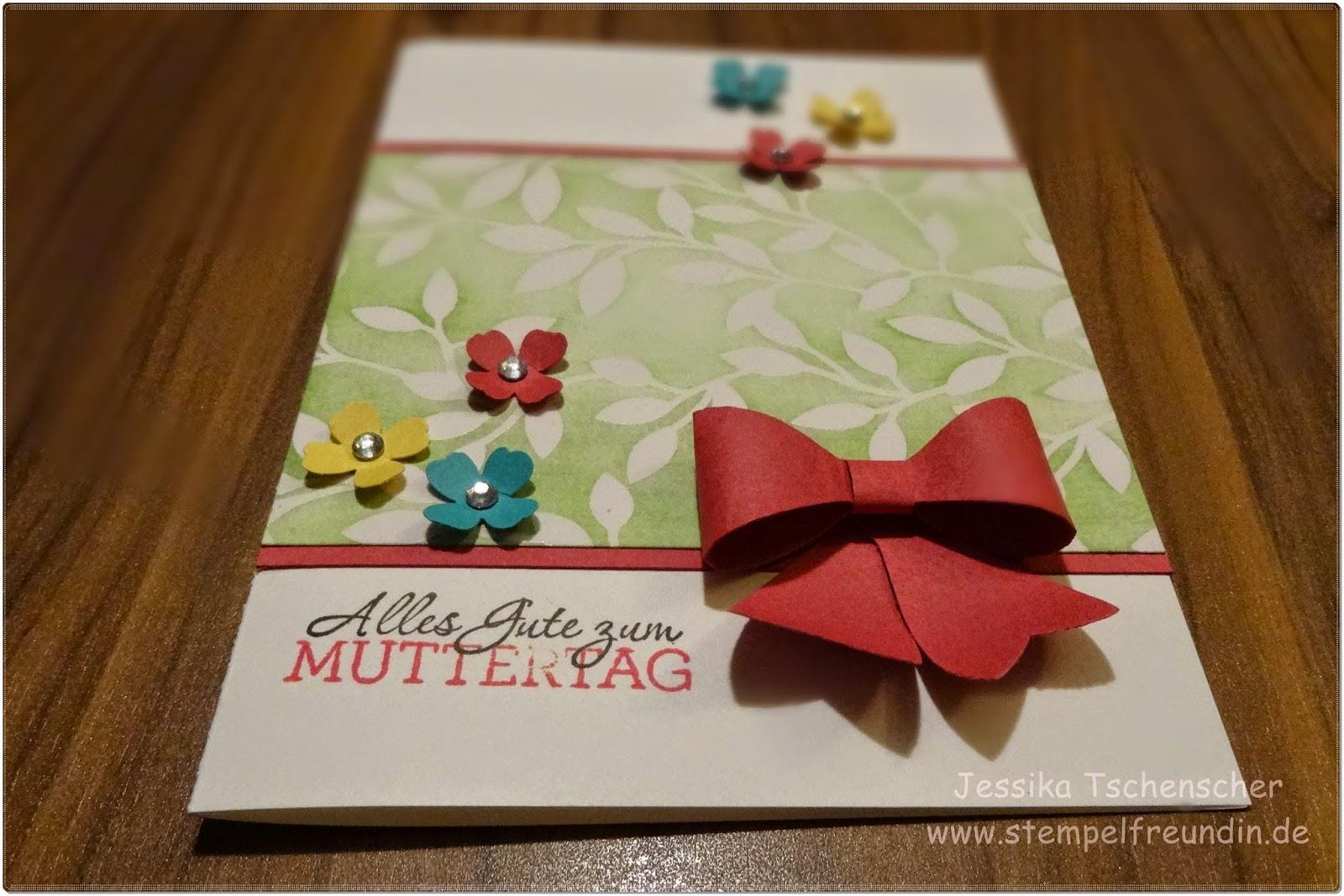 SAB 2015, Stampin' Up!, Muttertag, Itty Bitty Stanzen, Schleife, www.stempelfreundin.de