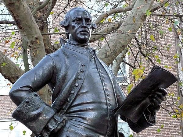 Wilkes's statue on Fetter Lane