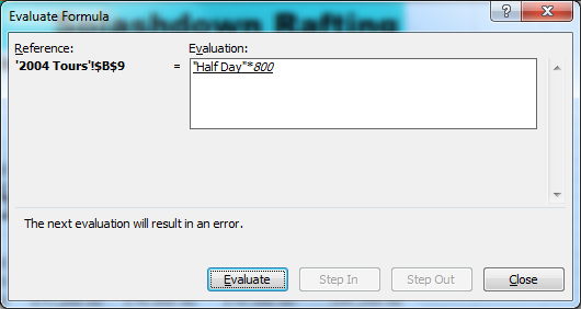 Show calculation steps to find source of error
