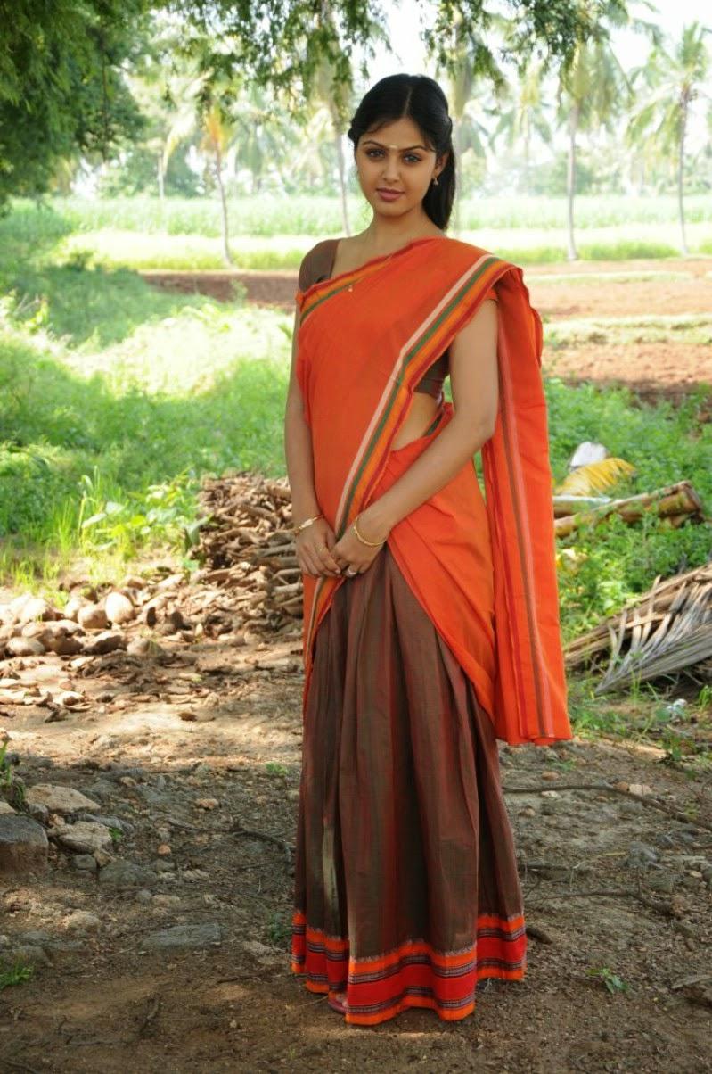 Monal Gajjar Hot Navel Show In Half Saree Photos - SAREE ...