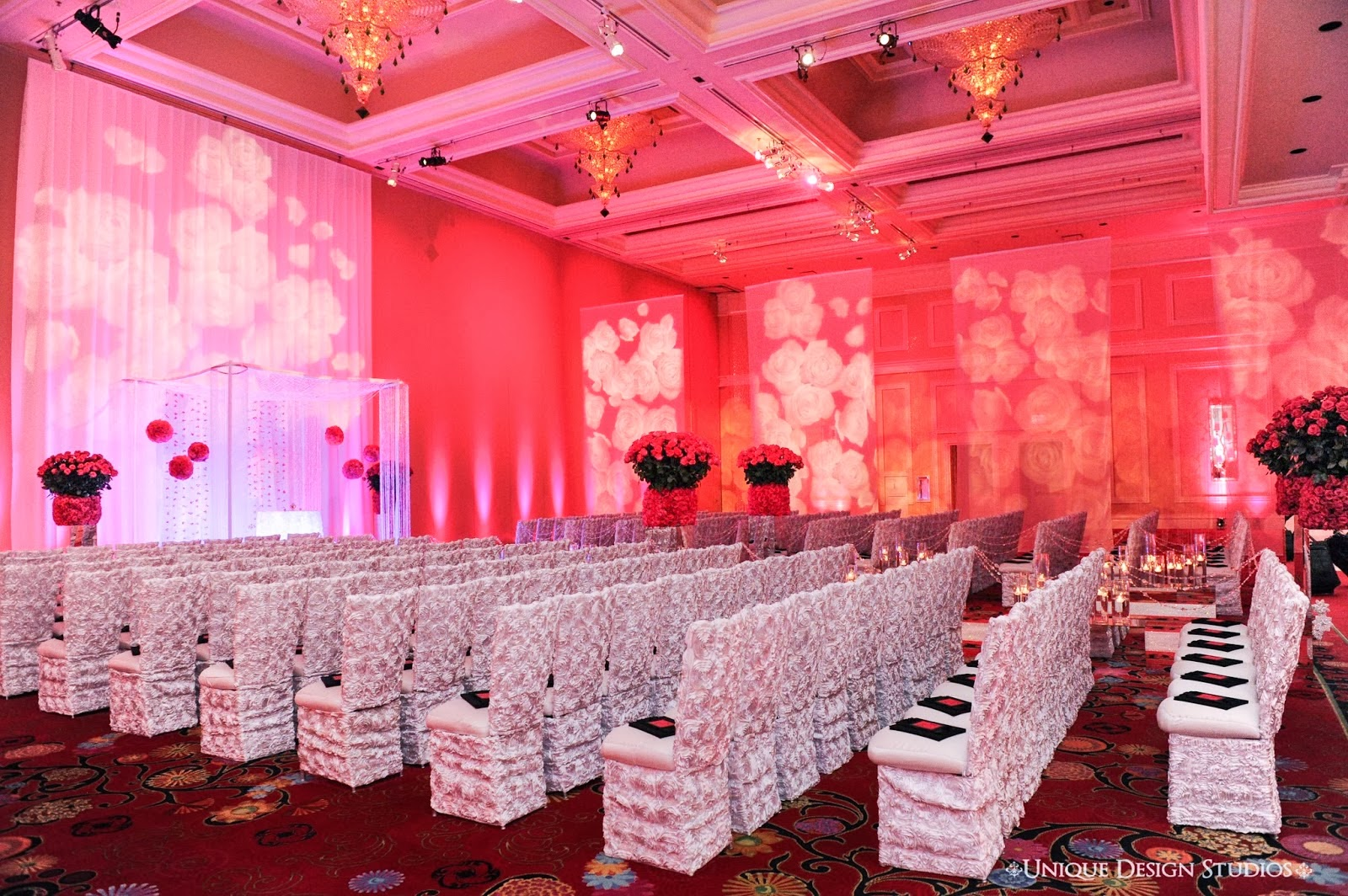 Sonal J. Shah Event Consultants, LLC: Color Palette: Pink and Red