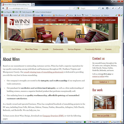 Screen shot of http://www.winndesign.com/about/.