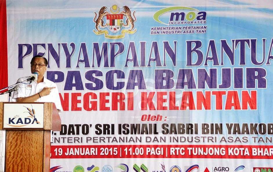 Kementeria Pertanian Hulurkan Bantuan Pasca Banjir Negeri Kelantan NajibRazak IsmailSabri60 DSIS